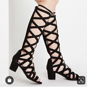 Forever 21 Lace Up Heeled Sandals-NWOT